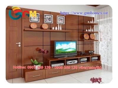 Mẫu kệ tủ tivi đẹp sang trọng cho phòng khách chung cư 7