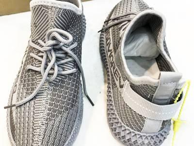 Giày sneaker nam xám bạc bên hông thêu chữ số Mã 350V2 X 2