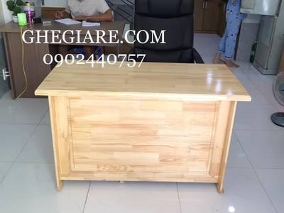 Bàn làm việc gỗ thông 120x60 giá 1tr650, miễn phí giao hàng các quận hcm 2