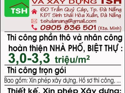 Cty TNHH Kiến Trúc Và Xây Dựng TSH, 60 Trần Qúy Cáp, TP. Đà Nẵng chuyên thi công và thiết kế 0