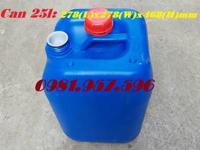 Dụng cụ đựng hóa chất, can nhựa HPDE, can nhựa 25l 0