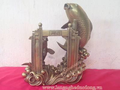 Tượng đồng cá chép, cá chép vượt vũ môn, kích thước 30cm, Cá chép bằng đồng 2
