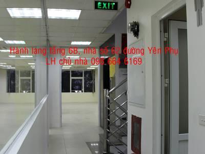 Chủ nhà cho thuê Từ 40-140m2 VP tại đường Yên Phụ. Giá 186.000đ/m2. LH 098 664 6169 3