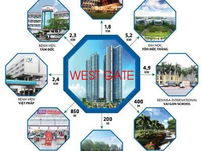 Nhận giữ chỗ căn hộ West Gate ngay trung tâm hành chánh huyện Bình chánh 3