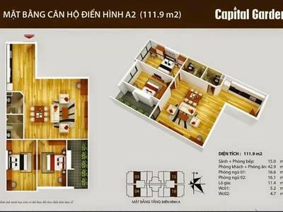 BQL tòa nhà - Cho thuê CH 2PN - 3PN - Từ 10tr/th - Capital Garden 102 Trường Chinh 1