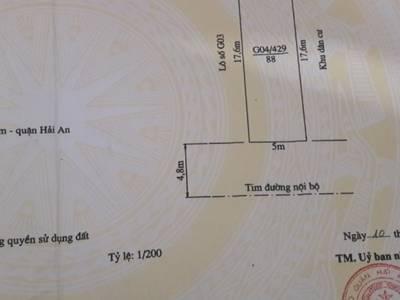 Chính chủ cần bán nhanh, bán gấp lô đất 333 Văn Cao, Hải Phòng ngang 5m. 3