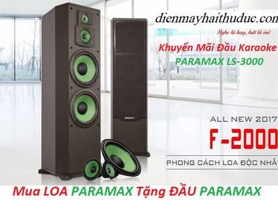 MUa Loa Paramax F 2000   khuyến mãi 1 Đầu Karaoke Paramax LS 3000