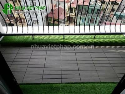 Vỉ gỗ lát sàn ngoài trời Nhựa Việt Pháp 4