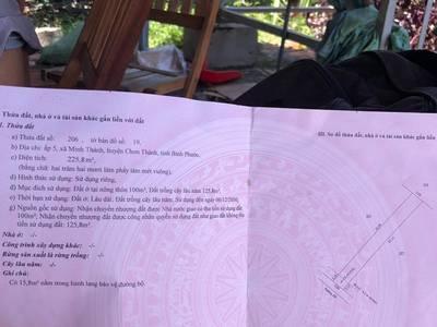 Bán đất đối diện Becamex Bình Phước, đã có sổ, giá chỉ 54x triệu 0