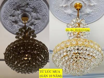 Chuyên sửa chữa đèn chùm, đèn mâm led hiện đại, vệ sinh đèn trang trí, rửa đèn chùm tại TP HCM 9