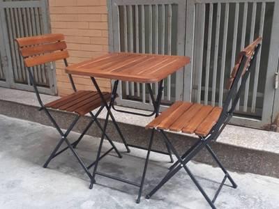 Thanh lý bàn ghế gỗ xếp quán cafe 500k/1 bộ 4 ghế 1
