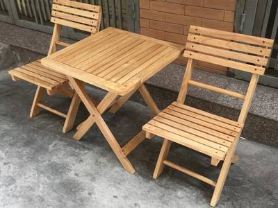 Thanh lý bàn ghế gỗ xếp quán cafe 500k/1 bộ 4 ghế 5