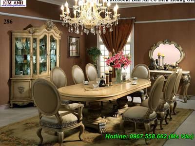 Đỉnh cao sang chảnh của bộ bàn ăn 10 ghế tân cổ điển siêu đẹp 6
