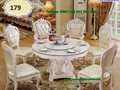 Đỉnh cao sang chảnh của bộ bàn ăn 10 ghế tân cổ điển siêu đẹp 11