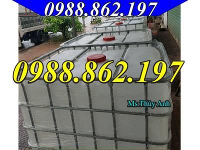 Tank nhựa cũ,bồn nhựa đựng nước,tank đựng hóa chất,thùng nhựa 1000l,tank IBC, tank nhựa Hà Nội 9