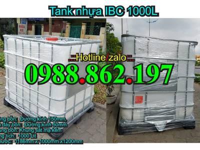 Tank nhựa cũ,bồn nhựa đựng nước,tank đựng hóa chất,thùng nhựa 1000l,tank IBC, tank nhựa Hà Nội 19