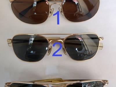 Có 3 cái kính cổ bọc vàng mới về, 2 cái  kính cơn AmericanOptical - USA và 1 cái ALGHA của Anh Quốc 0