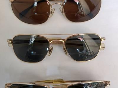 Có 3 cái kính cổ bọc vàng mới về, 2 cái  kính cơn AmericanOptical - USA và 1 cái ALGHA của Anh Quốc 1