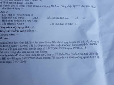 Cần bán nhà đúc 1 tấm hẻm 271 Quang Trung P.10 Gò vấp 5