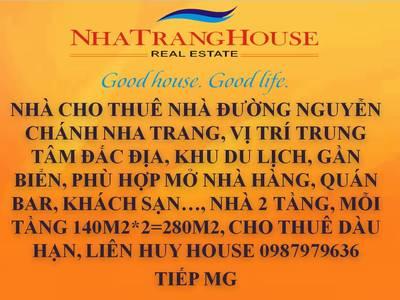 Cho thuê Nhà Đường Nguyễn Chánh Nha Trang . 140m2 0