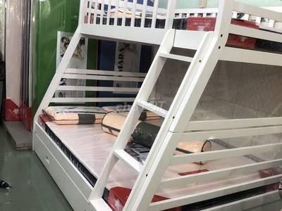 Giường tầng trắng 0