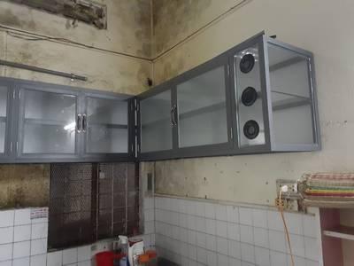 Tủ bếp nhôm kính màu ghi xám giá rẻ tại Đà Nẵng 0