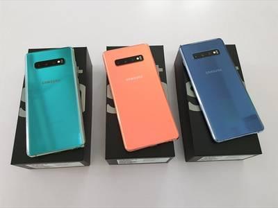 Samsung S10 Plus bản QT Mỹ G975U Chip Snap 855 ,Ram 8G,bộ nhớ trong 128G với 3 mầu Green,Blue,Pink 1