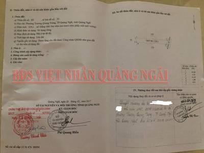 Bán lô đất phường Trương Quang Trọng thành phố Quảng Ngãi 1