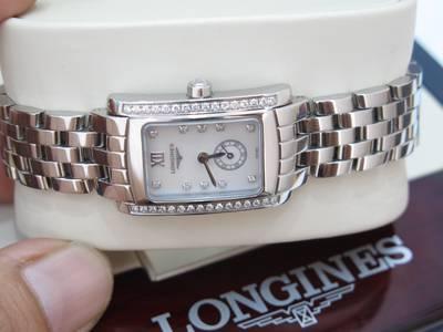 Longines Nữ Mặt Xà Cừ đính kim cương Like new, fullbox giá sale 0