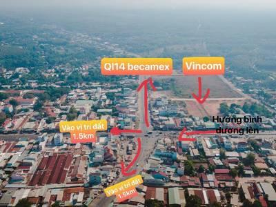 Chủ kẹt tiền cần bán miếng đất thuộc trung tâm thị trấn Chơn Thành, sổ sẵn, giá chỉ 490tr / 200m2 3