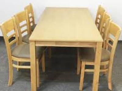 Bộ bàn ăn gỗ cao su, mẫu CABIN giá 2tr1 1