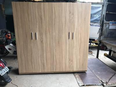Tủ quần áo gỗ MDF chống trầy màu sồi giá 3tr250 0