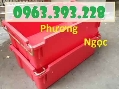 Sóng nhựa bít A2 có quai xách, thùng nhựa đựng đồ cơ khí 2