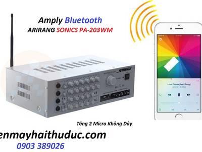Amply Arirang Sonics PA-203WM Bluetooth tặng kèm 2 micro không dây 0