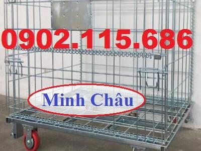 Lồng lưới trữ hàng, lồng thép chở hàng, lồng thép bánh xe, pallet lưới, lồng thép chứa hàng, 3