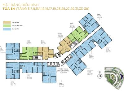 Siêu hot, ngoại giao CH 90m2 thiết kế 3pn view Nội Khu dự án Sunshine city, giá 3,37 tỷ  VAT KPBT 4