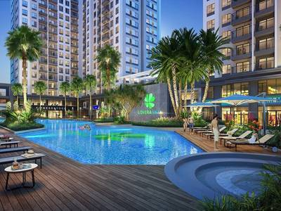 2PN Lovera Vistar Khang Điền, dt 69m2, giá 1,91 tỷ, view đẹp lầu trung. 3