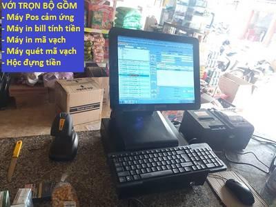 Full bộ thiết bị tính tiền cảm ứng cho tiệm tạp hóa ở Bắc Ninh 2