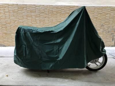 Tấm bạt dù phủ xe máy màu xanh cổ vịt loại dày, bền tốt GD0044 0
