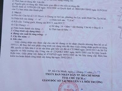 Bán căn hộ chính chủ tại Chung Cư An Lạc, P. An Lạc, Q. Bình Tân, TP.HCM 6