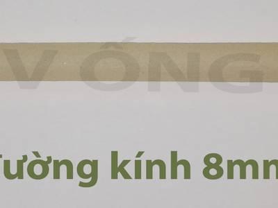 Ống hút bột gạo tự huỷ ăn được bảo vệ sức khoẻ ống màu trắng 5