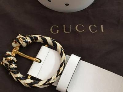 Thắt lưng GUCCI White authentic italy new 100. . 5