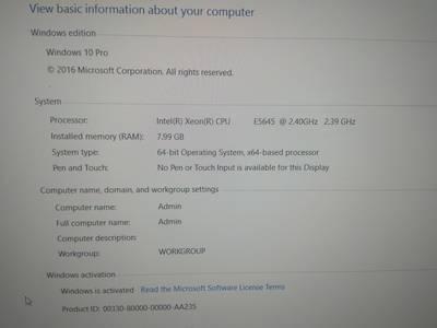 Bán máy bàn siêu khỏe đa năng giá mềm Xeon  Processor E5645 4