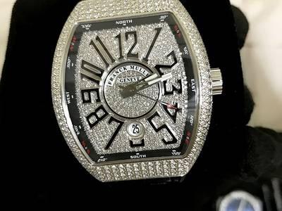 Đồng hồ Franck Muller Vanguard V41 Steel Custom Full Diamond 5