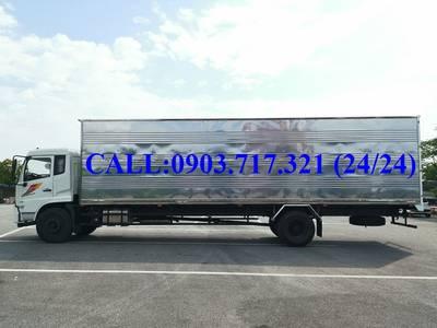 Xe tải DongFeng 8 tấn thùng kín. Xe tải DongFeng B180 thùng kín dài 9m7 mở 3 cửa hông 4
