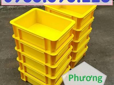 Thùng nhựa đặc B7 có nắp, hộp nhựa cơ khí, khay nhựa đặc 6