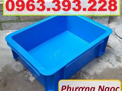 Thùng nhựa đặc B7 có nắp, hộp nhựa cơ khí, khay nhựa đặc 4