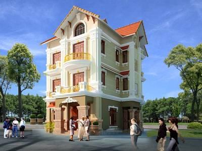 Thiết kế nhà biệt thự 3 tầng tại bình lục - phủ lý- hà nam.Dịch vụ thiết kế nhà đẹp ở hà nam 5