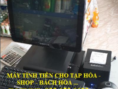 Bộ máy tính tiền cho cửa hàng tạp hóa, bách hóa, shop 0