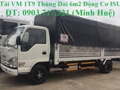 Xe tải VM 1T9 thùng dài 6m2. Bán xe tải VM 1T9 thùng mui bạt dài 6m2 1